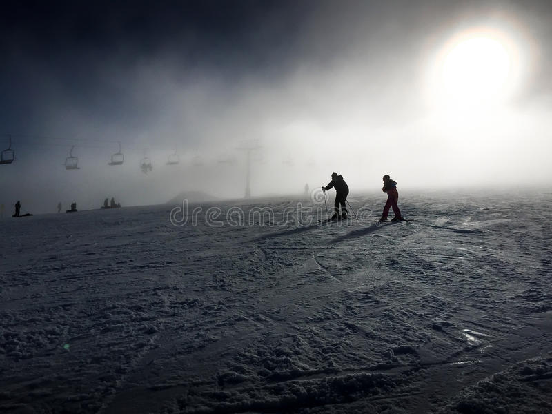 A Skiing Couple stock image