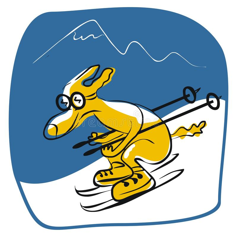 Download Skiing Dog stock vector. Illustration of christmas, cartoon - 25332673