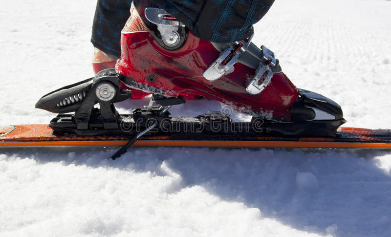 Download Skiing equipment on snow stock image. Image of black - 29690527