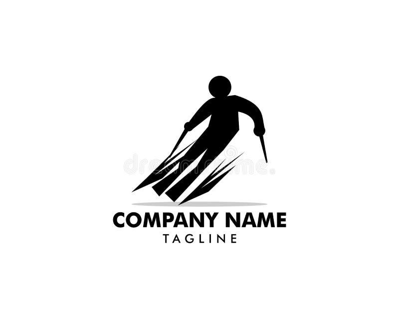 Skiing Icon Logo Vector Symbol. Skiing Icon Logo stock illustration