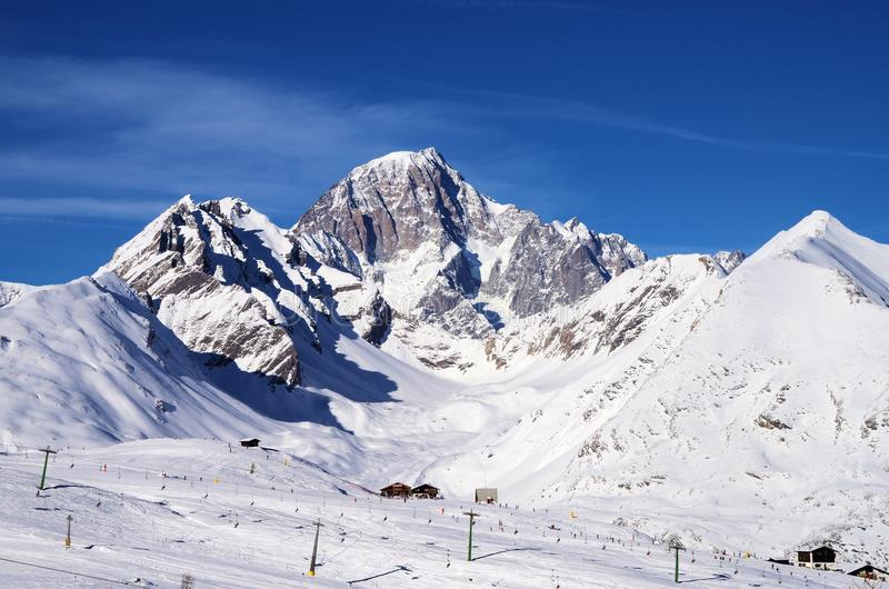 Skiing in La Thuile Italy editorial stock photo Image of lifts