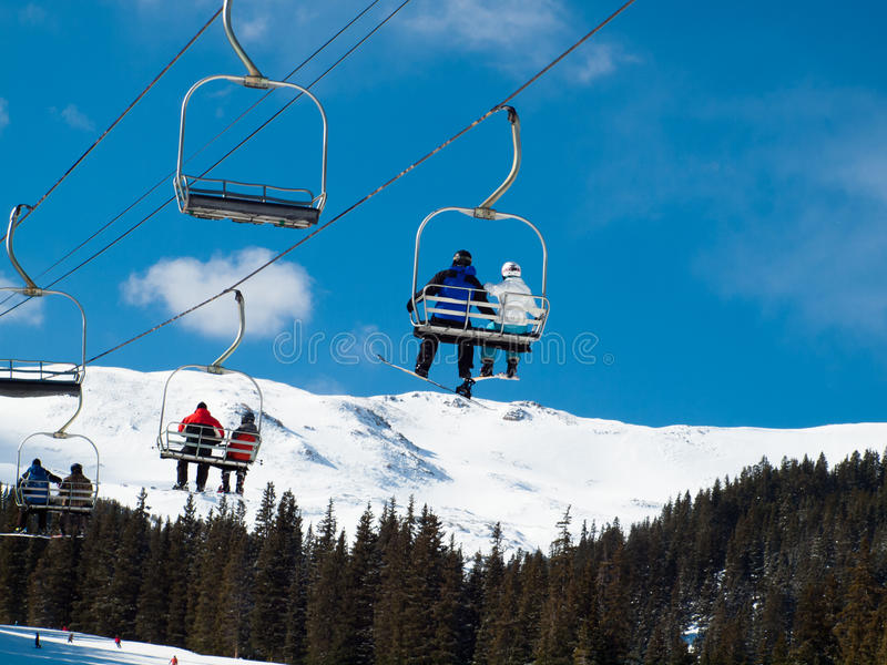Skiing. At Loveland Basin, Colorado stock photos