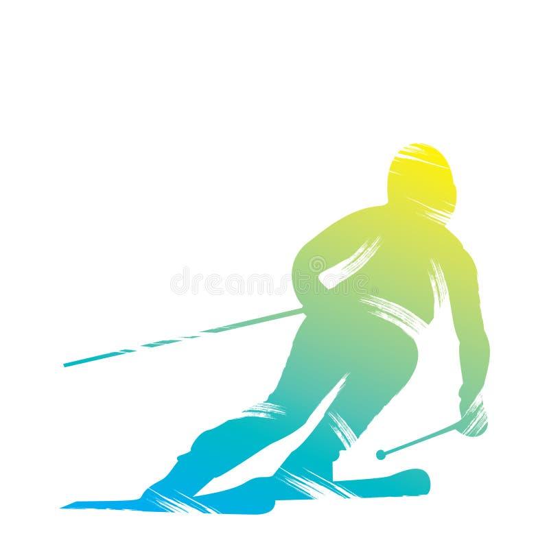 Free Skiing Player Design Stock Photo - 55555210