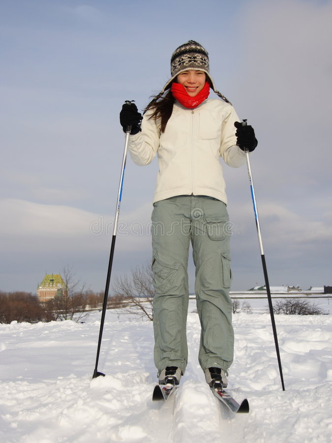 Download Skiing In Quebec City Royalty Free Stock Photography - Image: 7968437