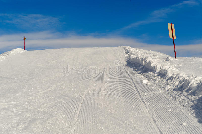 Skiing resort. Slope on the skiing resort Planai & Hochwurzen royalty free stock photo