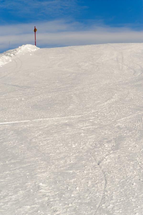 Skiing resort. Slope on the skiing resort Planai & Hochwurzen stock image