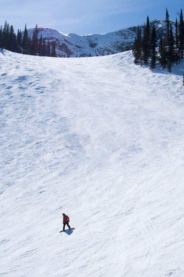 Skiing resort canadian winter stock images