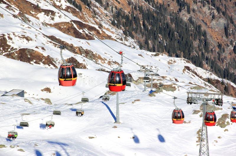 Skiing Resort Kitzsteinhorn / Kaprun, Austria. stock photos