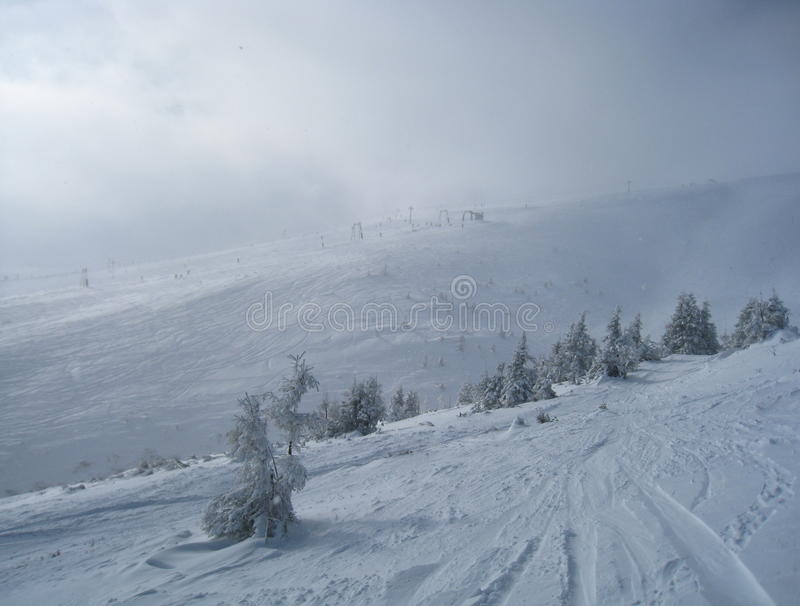 Skiing Route royalty free stock images