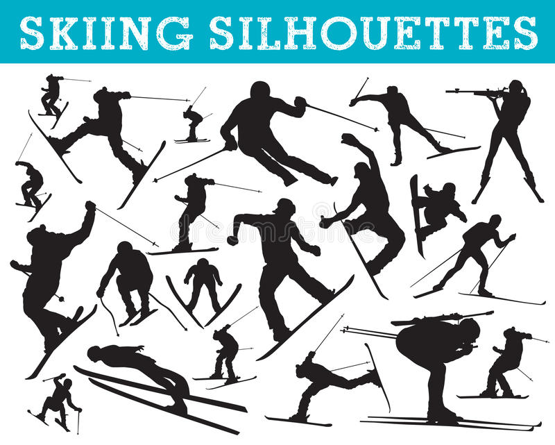Download Skiing Silhouettes Royalty Free Stock Photo - Image: 20700315