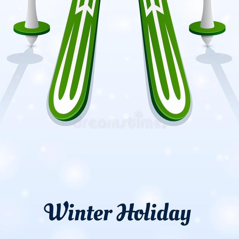 Download Skiing And Ski Poles On Ice Stock Illustration - Illustration: 36607072