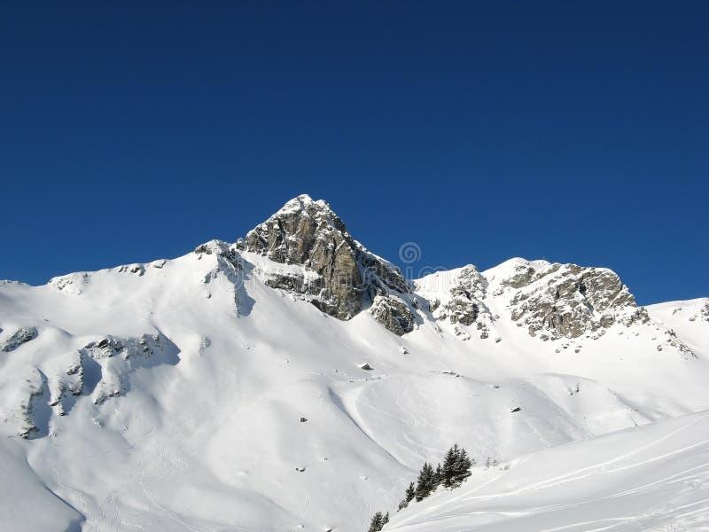 Skiing in swiss alps