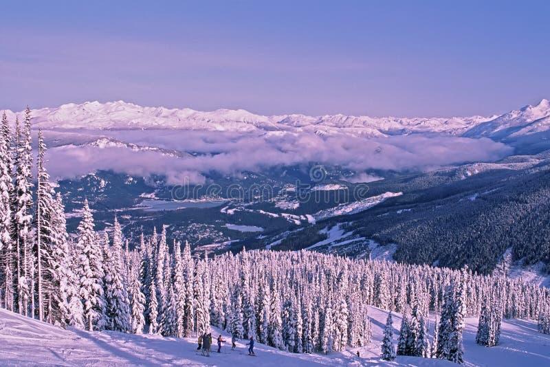 Skiing at Whistler Mountain royalty free stock photo