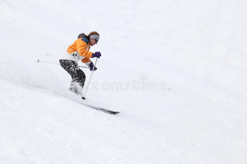 Download Skiing woman stock image. Image of portrait, downhill - 26823731
