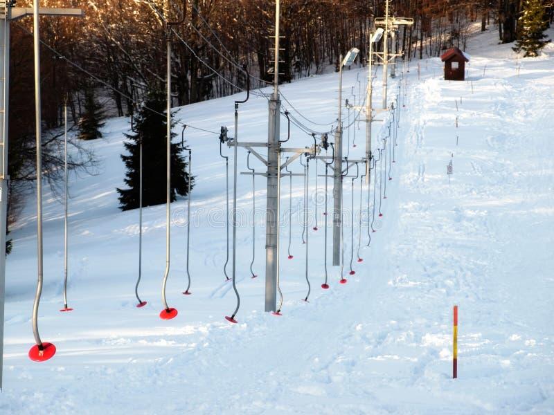 Skilift stock fotografie