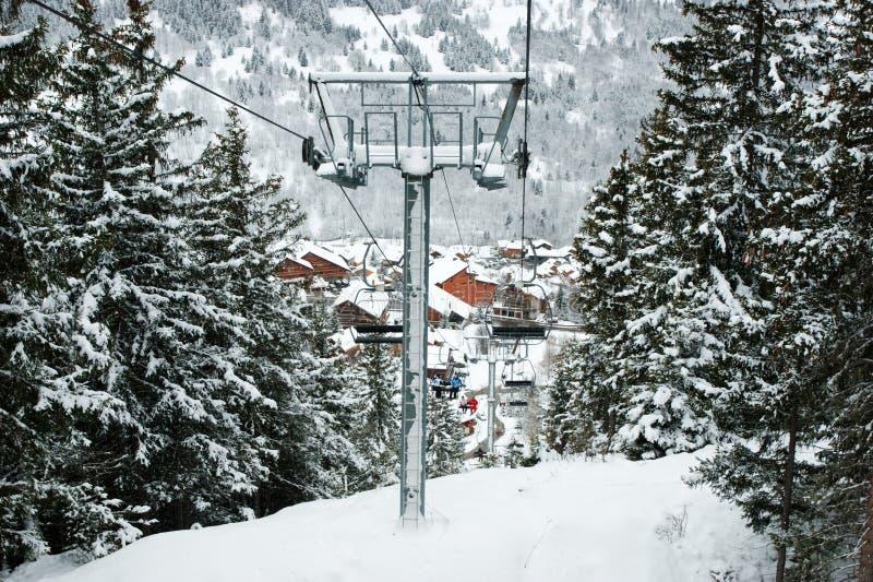 skilift arkivfoto