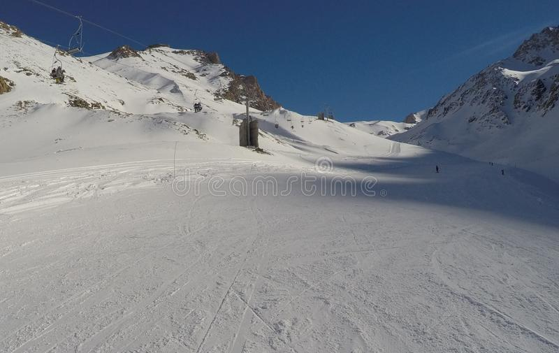 Skilift em Argentina imagem de stock