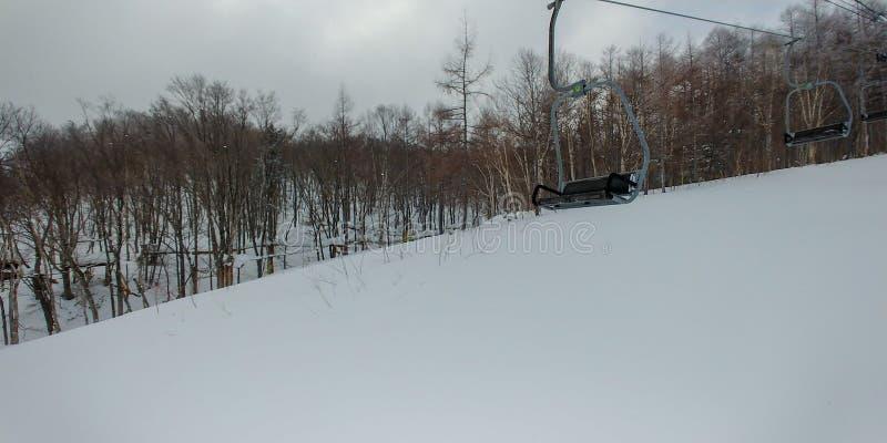 Skilift in verrichting royalty-vrije stock foto's