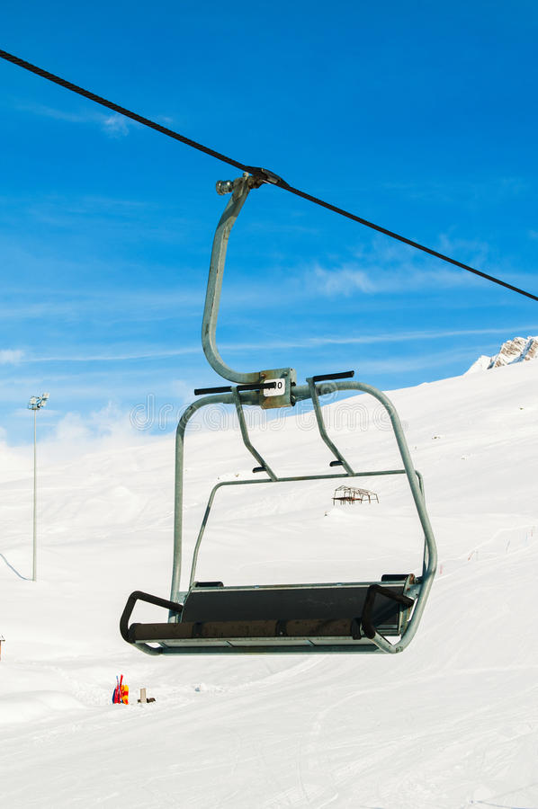 Download Skilift on  winter day stock photo. Image of snowfall - 27714868