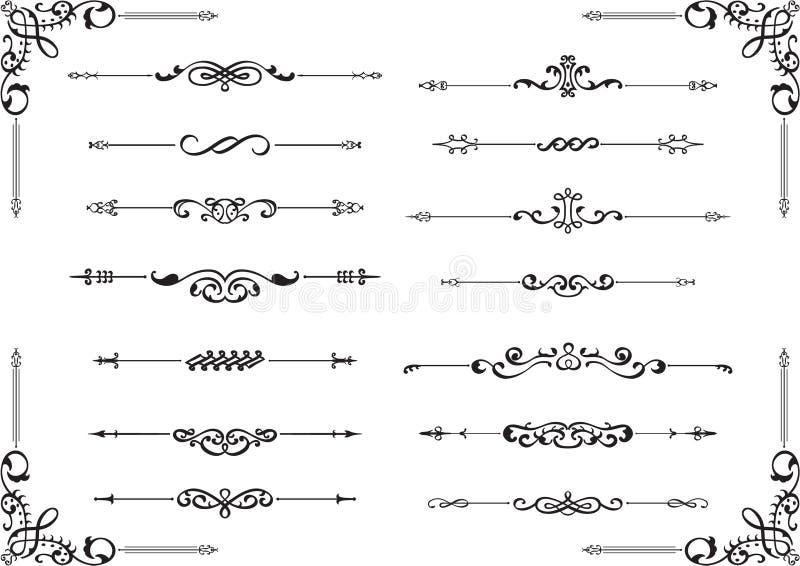 Skiljelinjelinjer royaltyfri illustrationer