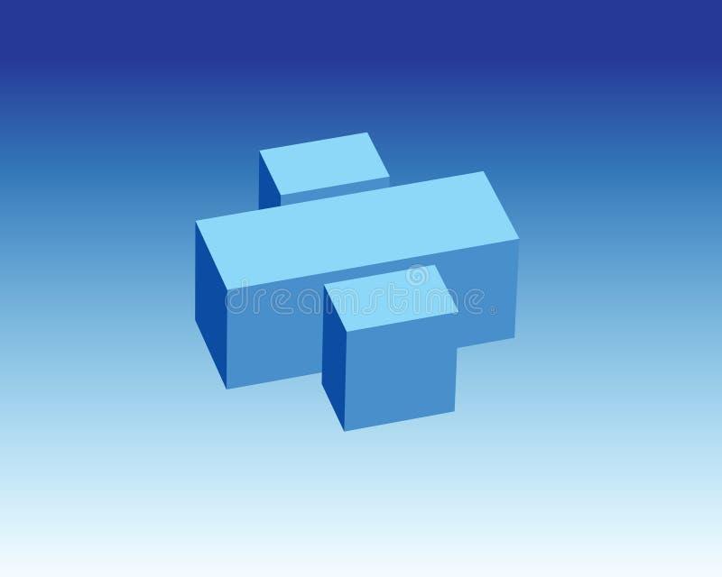 Skiljelinjesymbol & tecken 3d royaltyfria foton