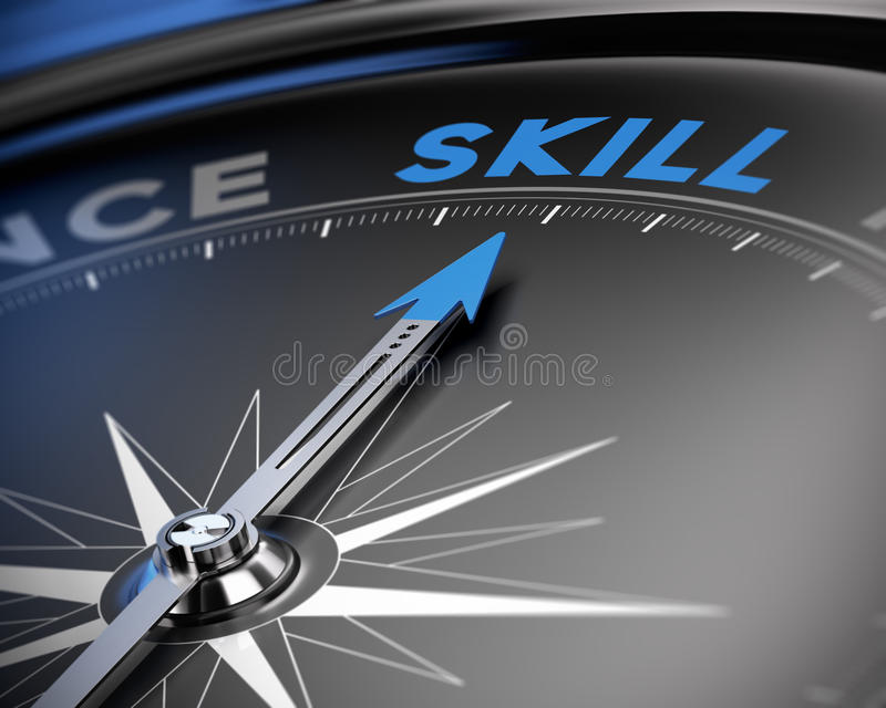 Skill Concept, Training royalty free illustration