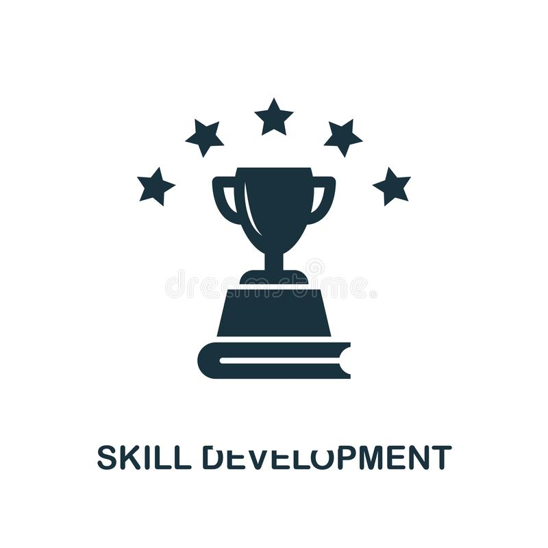 Skill Development creative icon. Simple element illustration. Skill Development concept symbol design from online education collec royalty free illustration