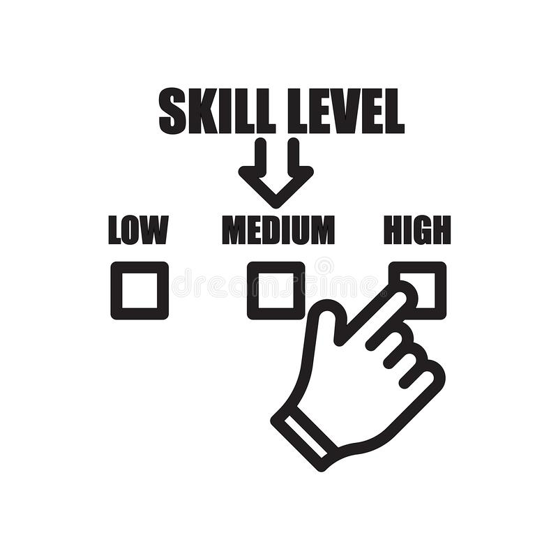skill level icon isolated on white background royalty free illustration
