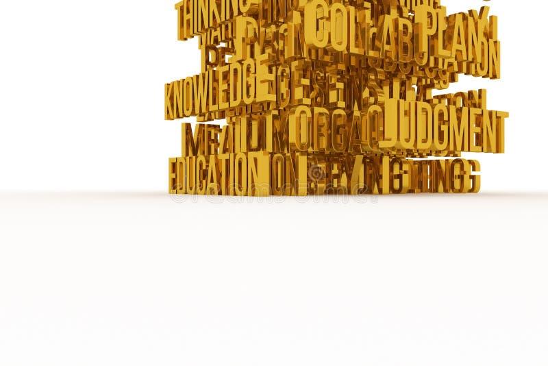 Skill, Plan, Education, business conceptual golden 3D rendered words. Positive, design, style & wallpaper. Skill, Plan, Education, business conceptual golden 3D vector illustration