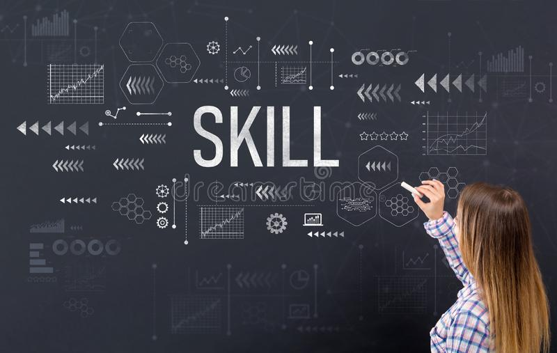 Skill with young woman royalty free stock photography