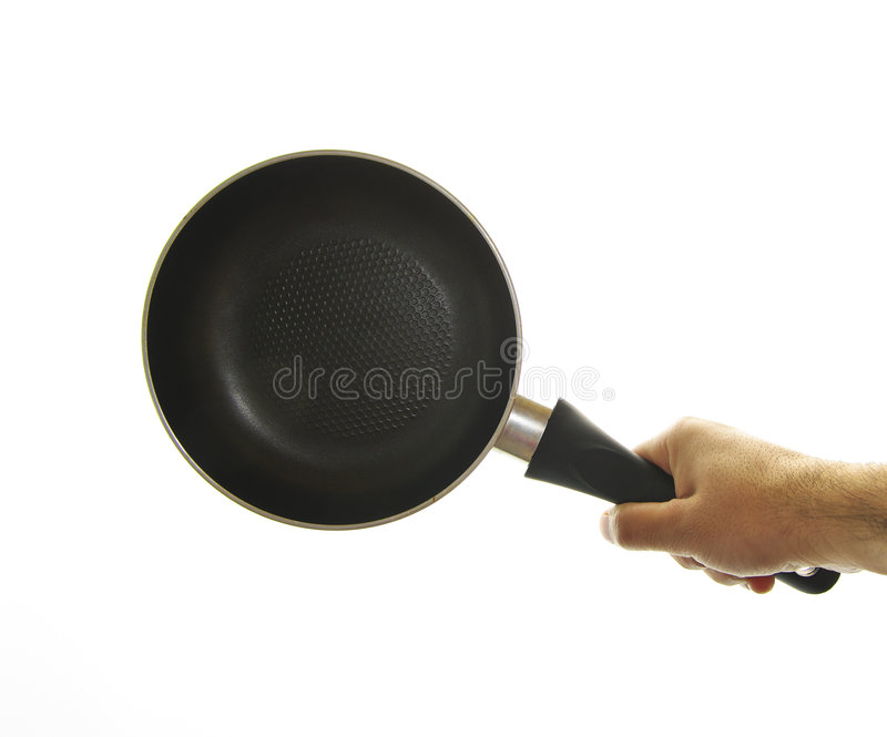 Download Skillet cooking stock photo. Image of hand, background - 7434820