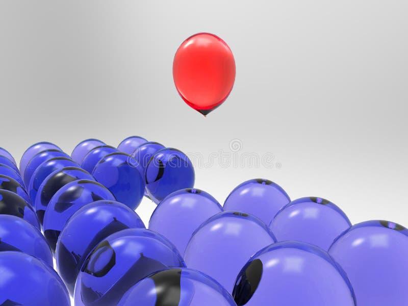 Skillnad av ballonger stock illustrationer