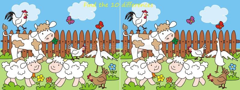 Skillnader Farm-10 vektor illustrationer