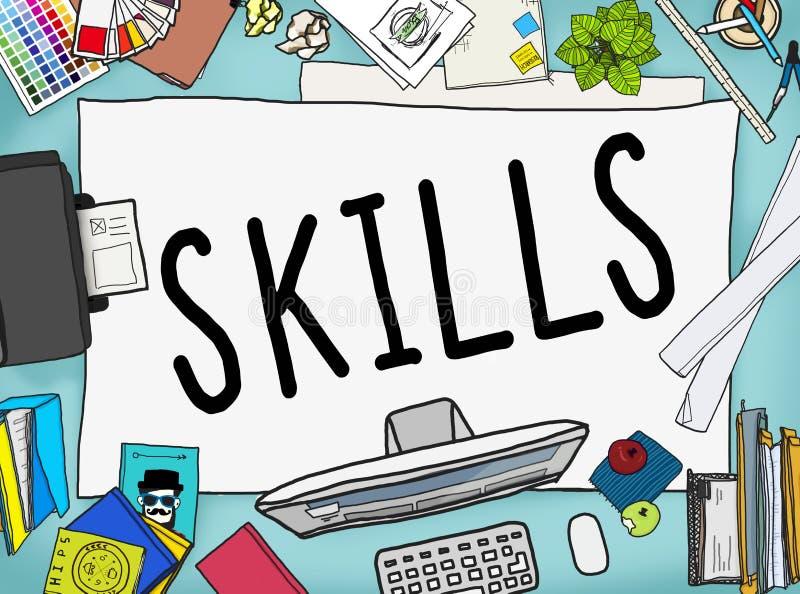 Skills Ability Capacity Talent Technique Concept vector illustration