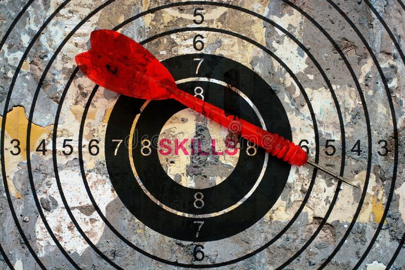 Skills target concept royalty free stock image