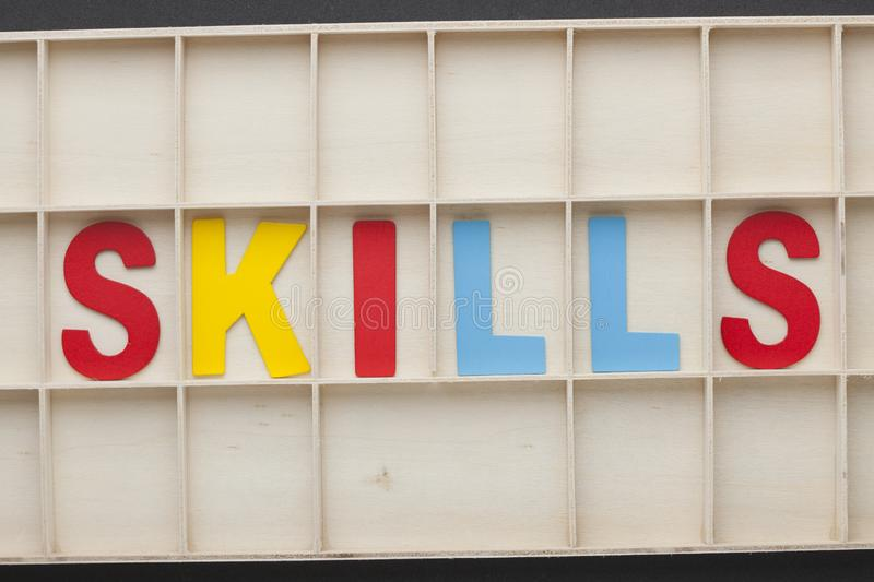 Skills Word Concept royalty free stock images