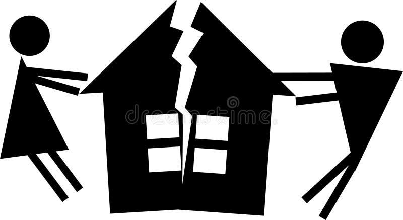 Skilsmässa royaltyfri illustrationer