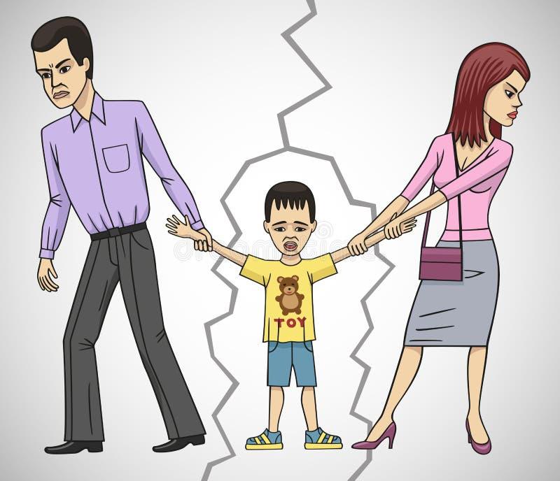 skilsmässa vektor illustrationer