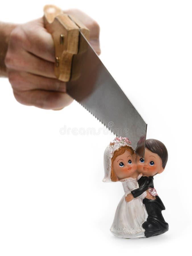 Skilsmässabegrepp royaltyfri foto