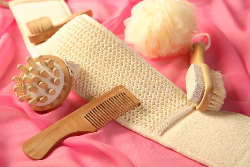 Skin and bodycare accessories stock image