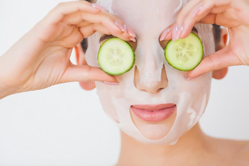 Skin Care. Beauty Woman Face With Fresh Skin In Spa.  royalty free stock photo