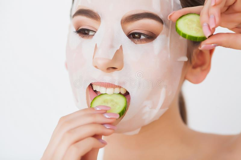 Skin Care. Beauty Woman Face With Fresh Skin In Spa.  stock images