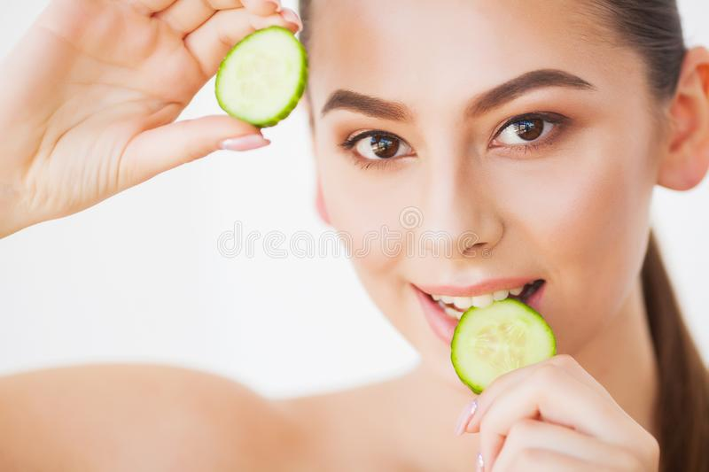 Skin Care. Beauty Woman Face With Fresh Skin In Spa.  stock photos
