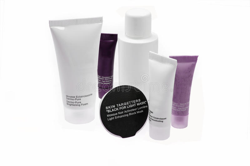 Skin care and beauy products stock image