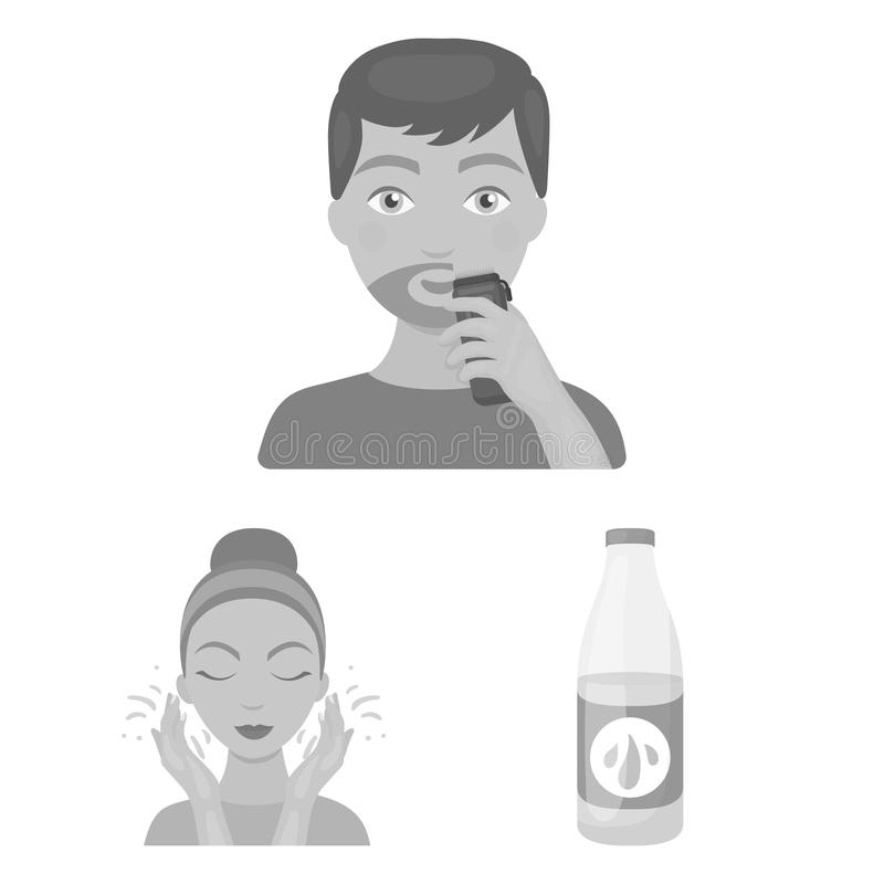 Skin care monochrome icons in set collection for design. Face and body vector symbol stock web illustration. Skin care monochrome icons in set collection for vector illustration