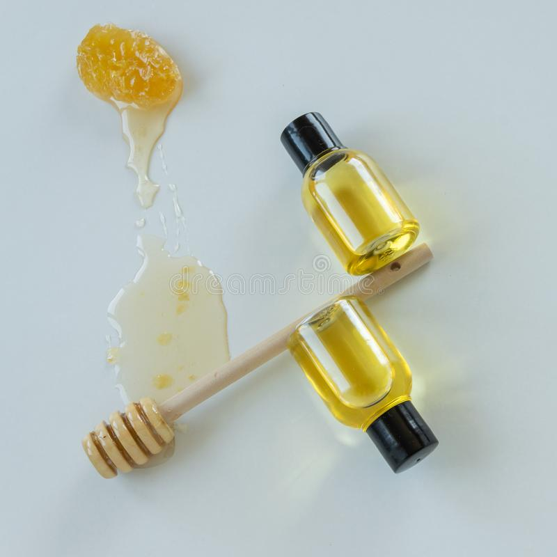 Skin care products with honey. Healthy organic remedy. Superfood for the skin stock photos
