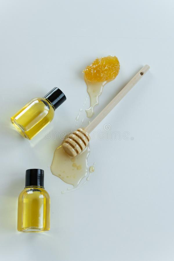 Skin care products with honey. Healthy organic remedy. Superfood for the skin royalty free stock image