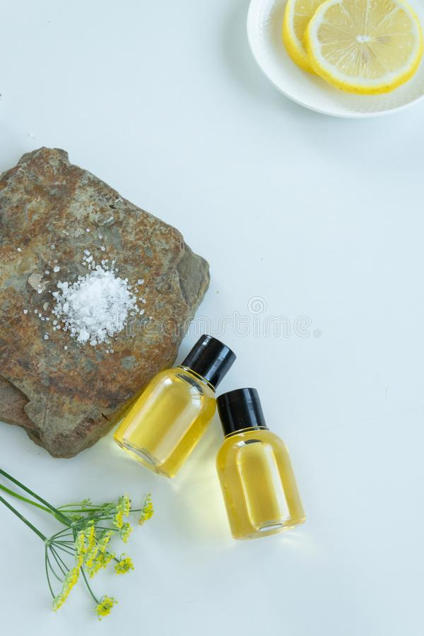 Skin care products with natural products and extracts . Healthy organic remedy. Superfood for the skin stock photo