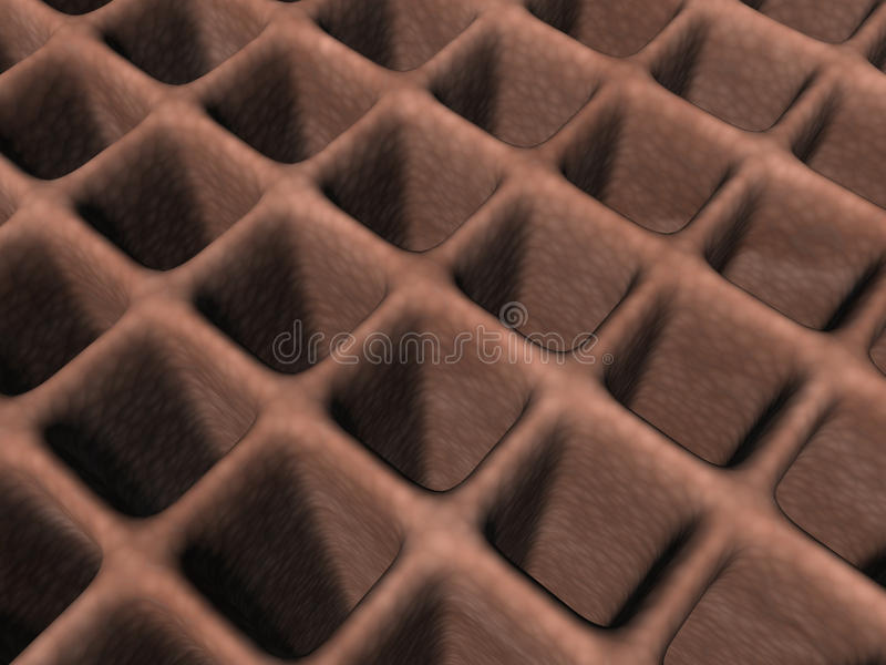 Skin Cells - 3D Stock Image
