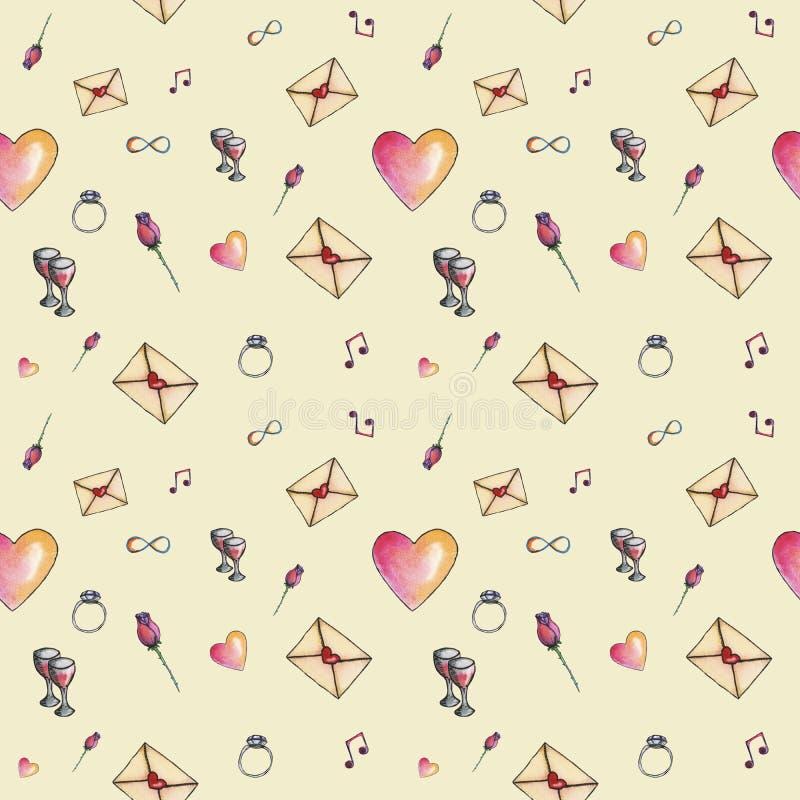 Skin cozzy cartoon valentine pattern stock image